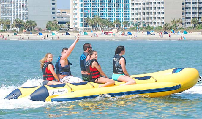 Banana Boat Rides in Myrtle Beach